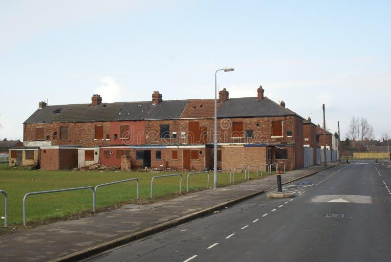 Снабжение жилищем трущобы, улица вальдшнепа, Кингстон на корпусе стоковые изображения rf
