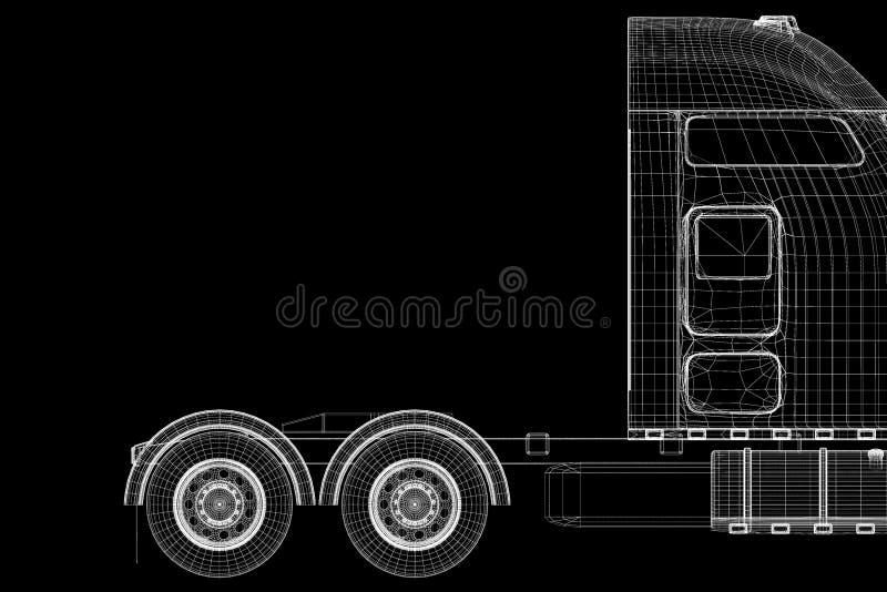 Снабжение - перевозящ на грузовиках стоковое изображение rf