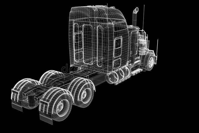 Снабжение - перевозящ на грузовиках иллюстрация штока