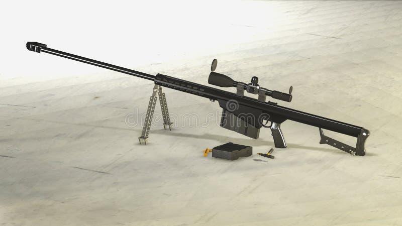 Снайперская винтовка M107 Barett иллюстрация вектора