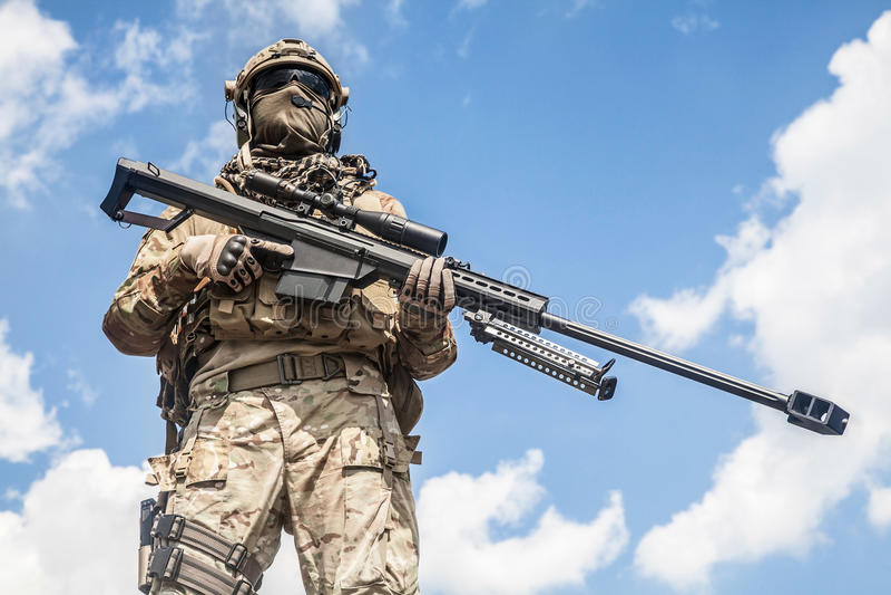 Снайпер ренджера армии стоковое фото rf