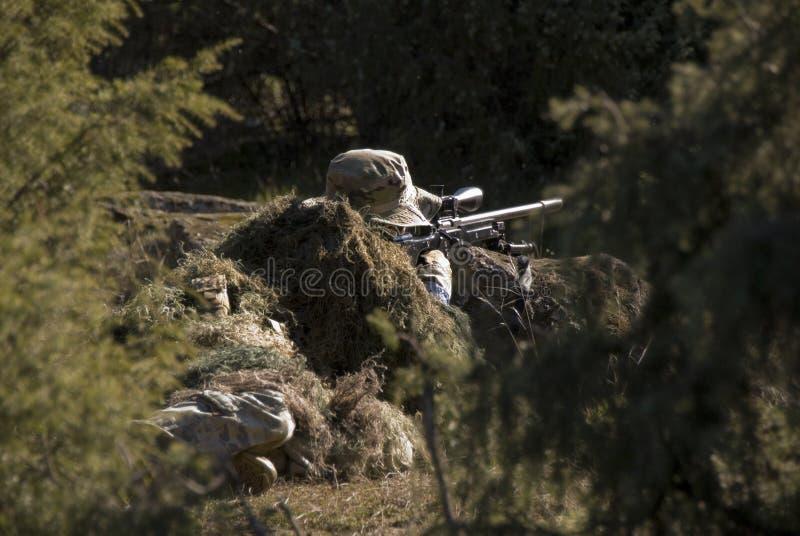 Снайпер Airsoft стоковое фото rf