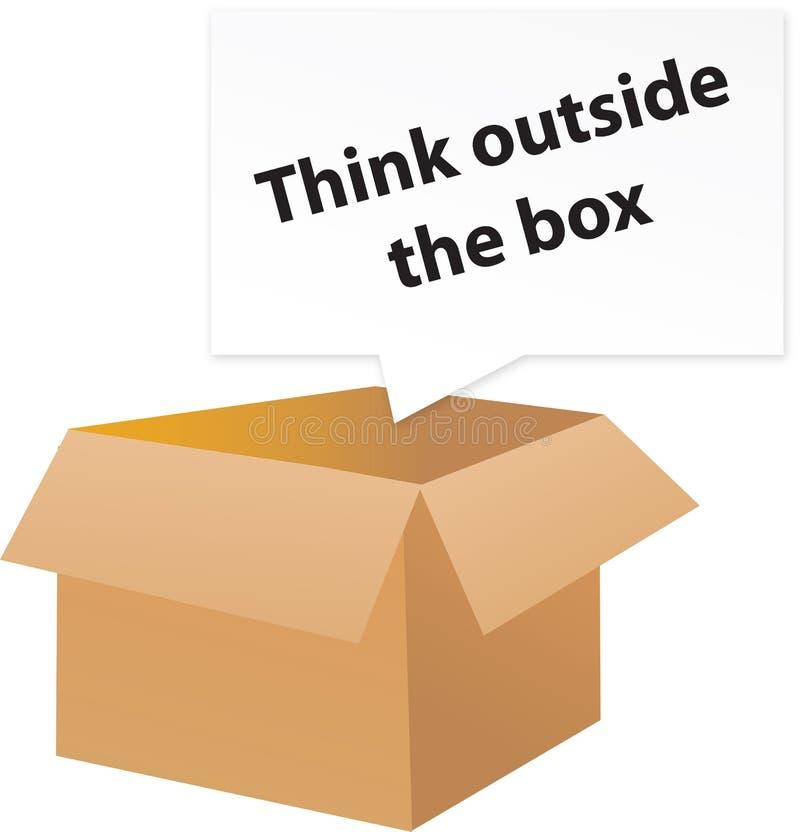 снаружи коробки думает бесплатная иллюстрация