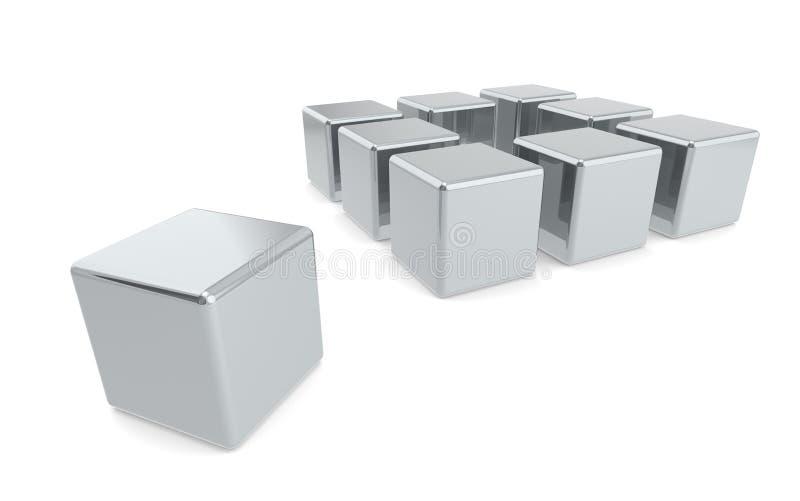 снаружи коробки думает иллюстрация штока