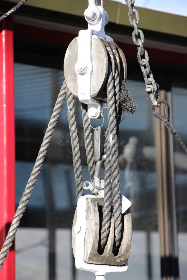 снасть веревочки блока стоковая фотография rf