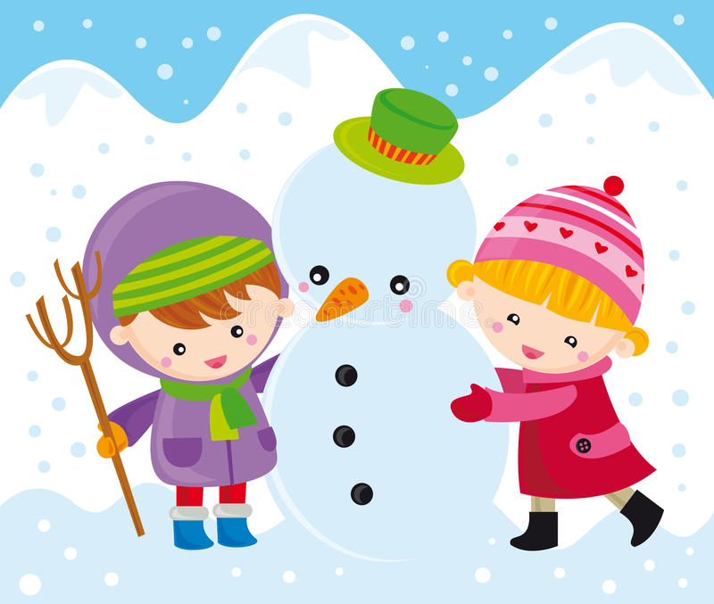 снеговик детей