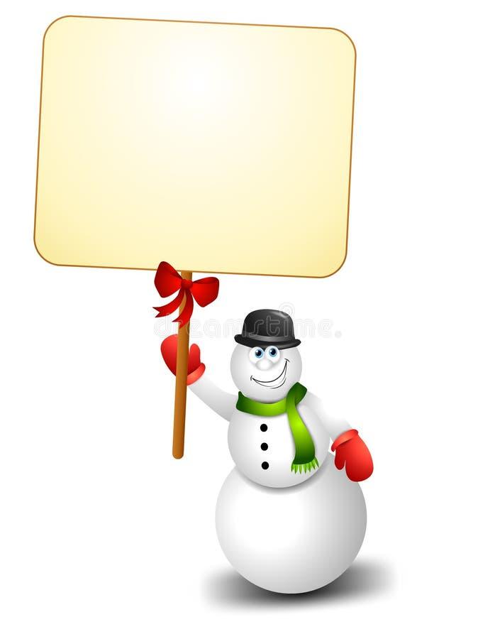 Download снеговик знака удерживания иллюстрация штока. иллюстрации насчитывающей художничества - 6855645