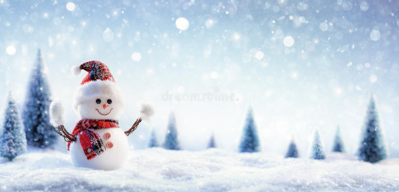 снеговик ландшафта зимний стоковые фотографии rf