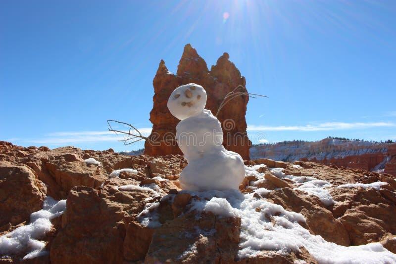 Снеговик на каньоне Bryce стоковое фото