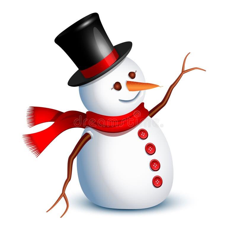 снеговик приветствию иллюстрация штока