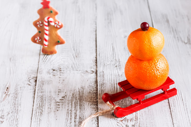 Снеговик плодоовощ стоковое фото rf