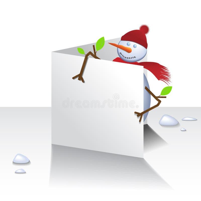 снеговик рождества карточки иллюстрация вектора