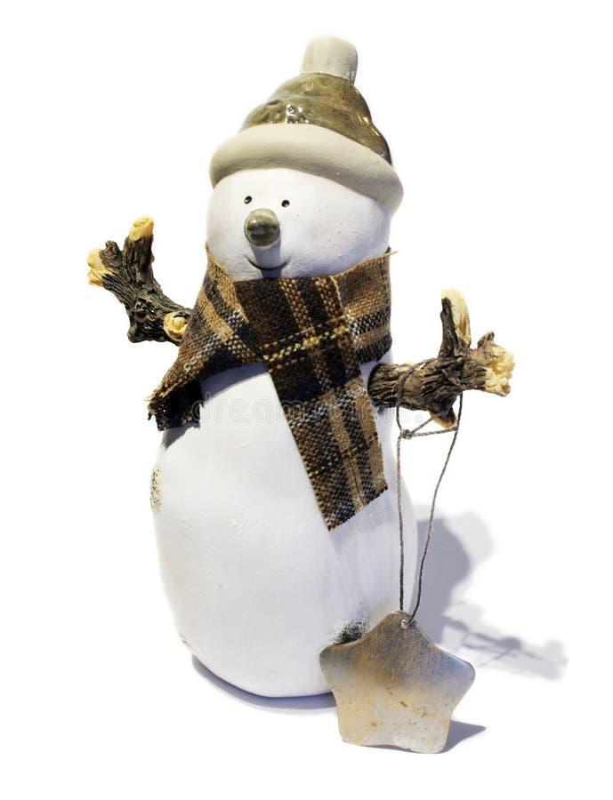 снеговик рождества стоковое фото