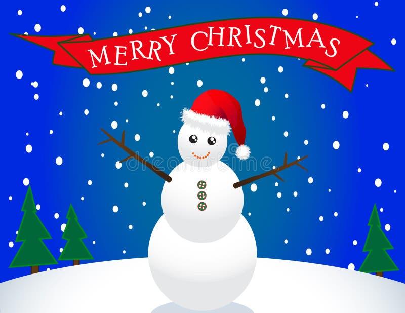 Снеговик Санта иллюстрация вектора