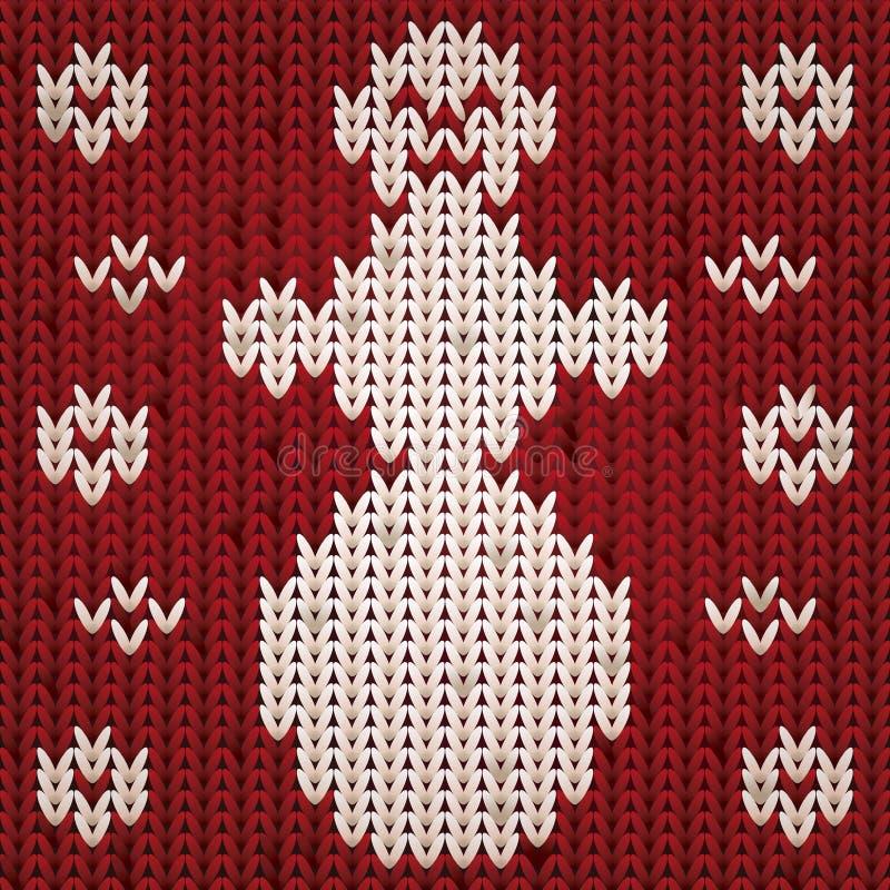 Снеговик связанный рождеством, вектор бесплатная иллюстрация