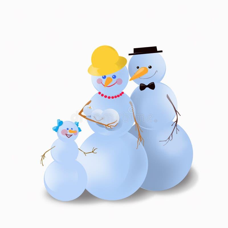 снеговик семьи иллюстрация штока