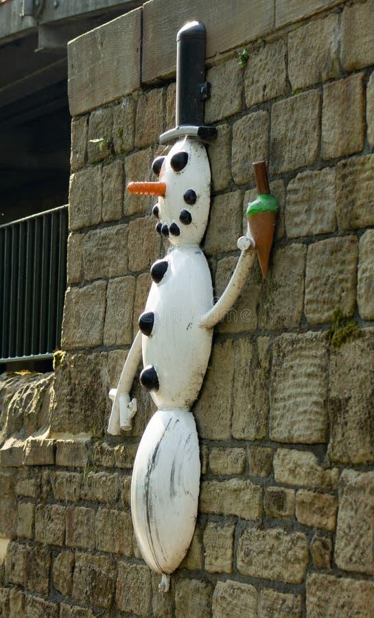 Снеговик следа скульптуры Aire стоковое фото