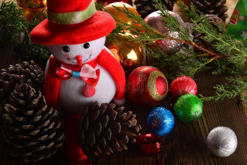 снеговик украшения 2 cristmas стоковое фото rf