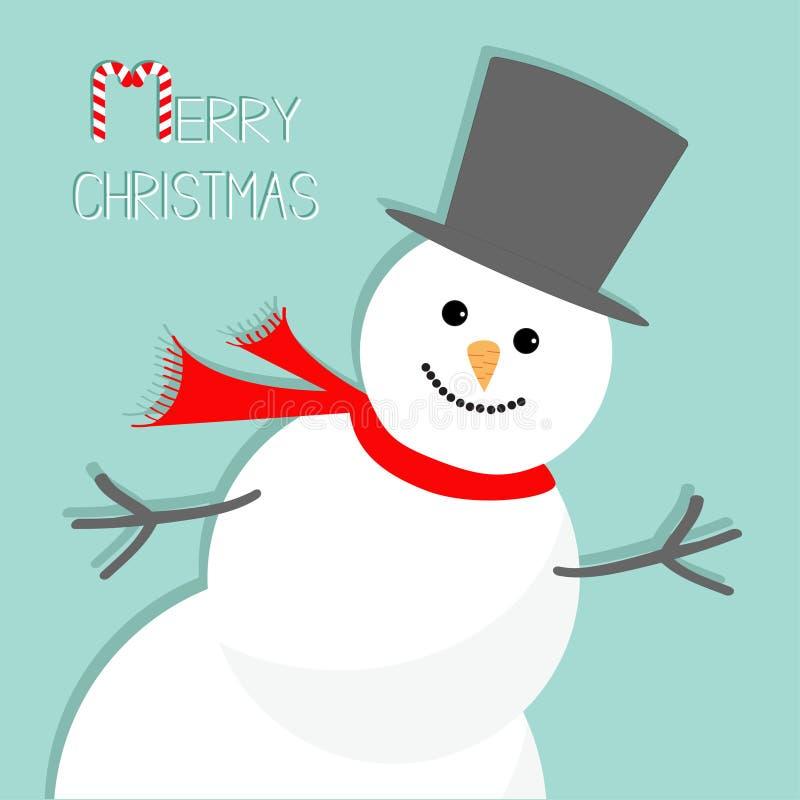 Снеговик шаржа в угле background card congratulation invitation Дизайн с Рождеством Христовым рождественской открытки плоский бесплатная иллюстрация