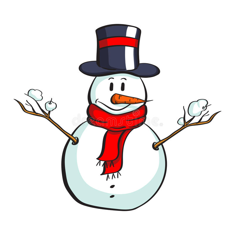 Cartoon snowman with penis