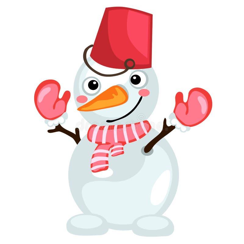 Картинка снеговика с ведром на голове