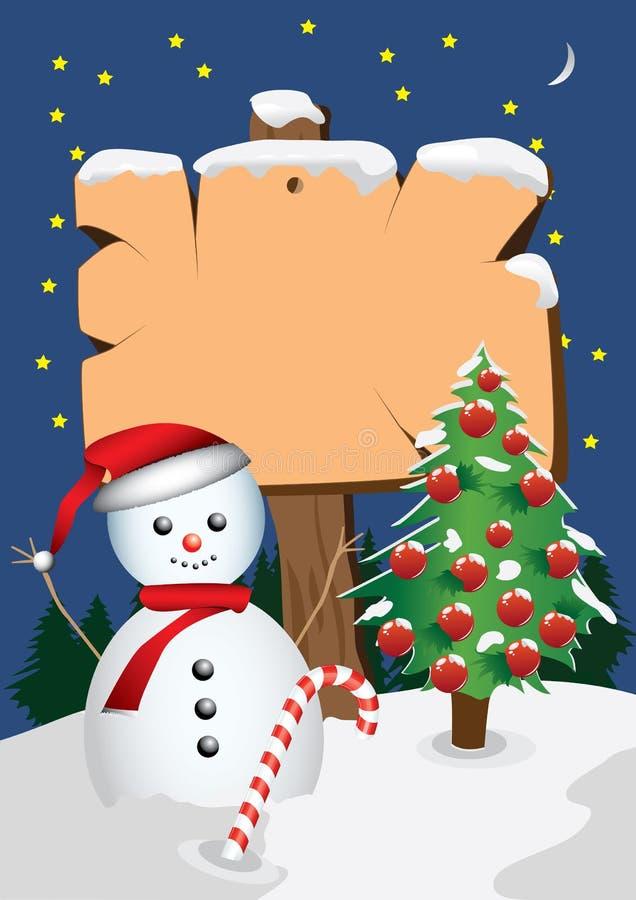 Снеговик шильдика бесплатная иллюстрация