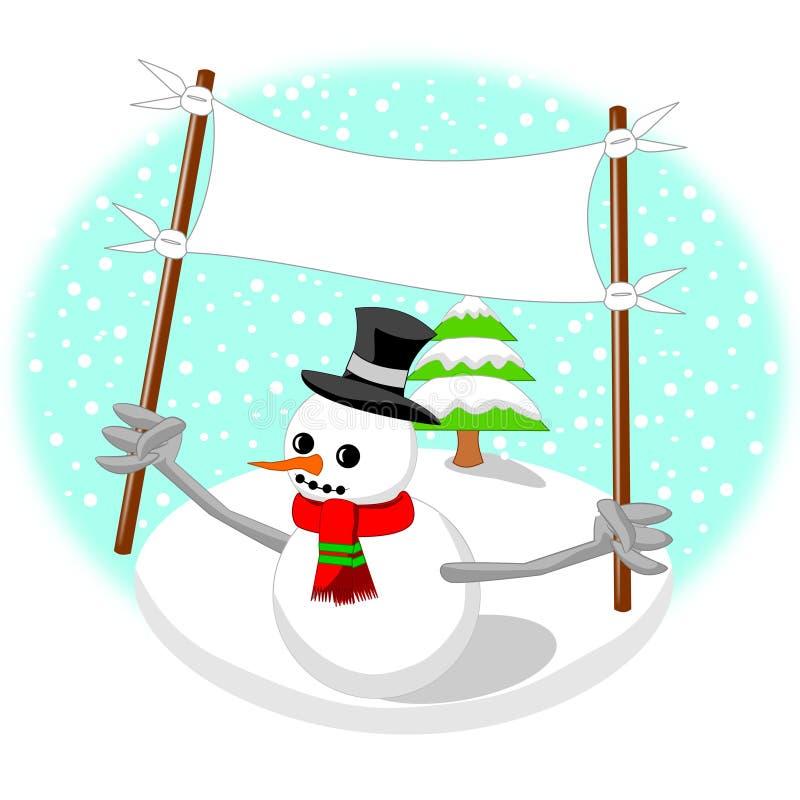Снеговик иллюстрация вектора