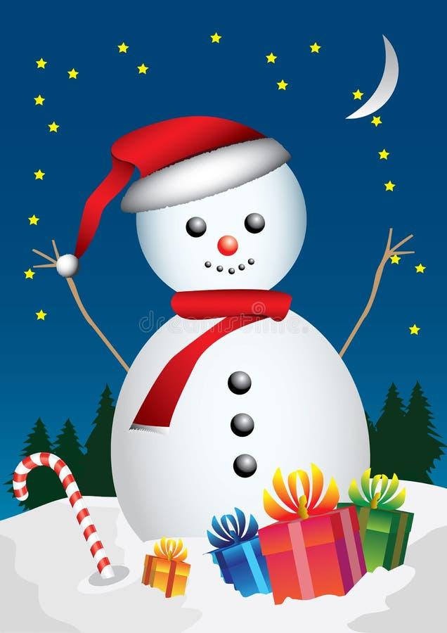Снеговик бесплатная иллюстрация