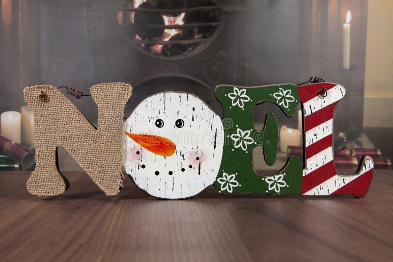 Снеговик Noel стоковое изображение