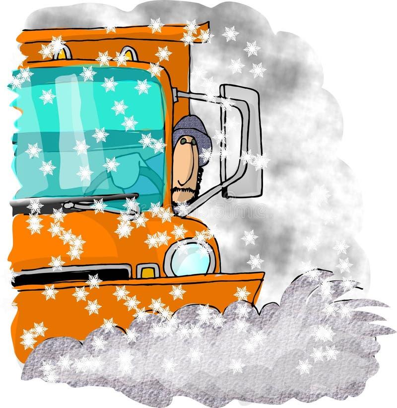 снегоочиститель водителя иллюстрация штока