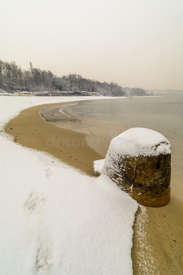 снег в пляже стоковые фотографии rf