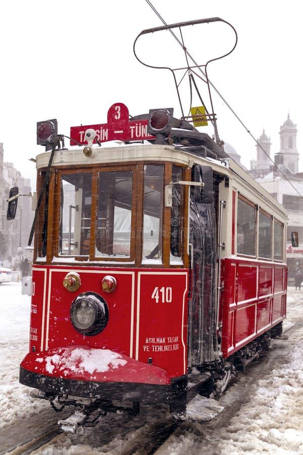 Снег в Стамбуле стоковые изображения