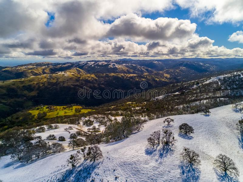 Снег дороги шахт стоковое фото