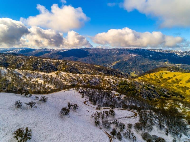 Снег дороги шахт стоковые изображения rf