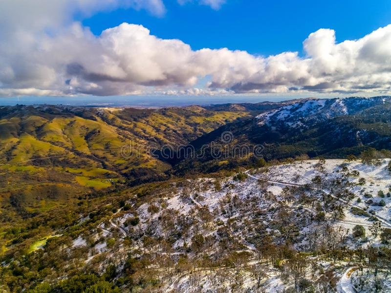 Снег дороги шахт стоковое фото rf