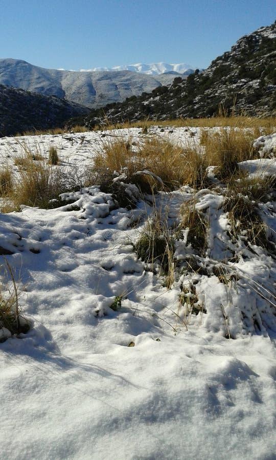 Снег 2017 Крита стоковое фото