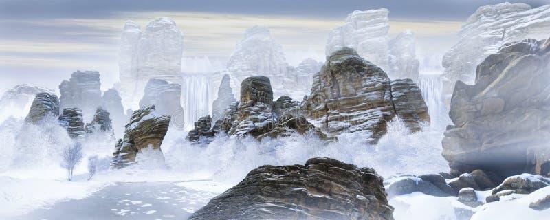 Снег, ледники и горы стоковые фотографии rf