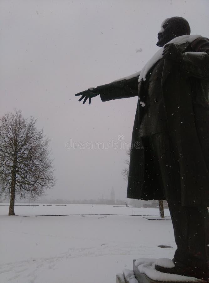 Снег Ленин стоковое изображение