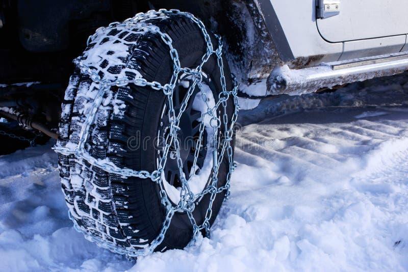 Снег цепей стоковое фото rf