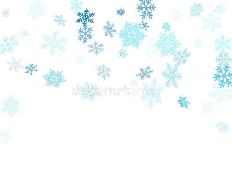 Снег шелушится падая иллюстрация вектора макроса, знамя scatter confetti снежинок рождества падая иллюстрация вектора