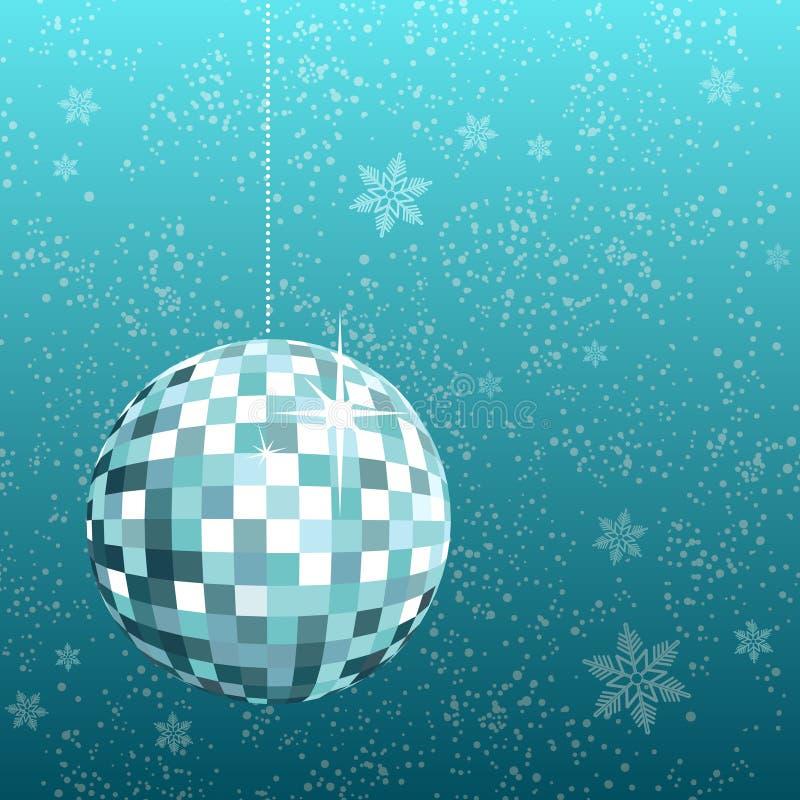 снежинка диско шарика иллюстрация вектора