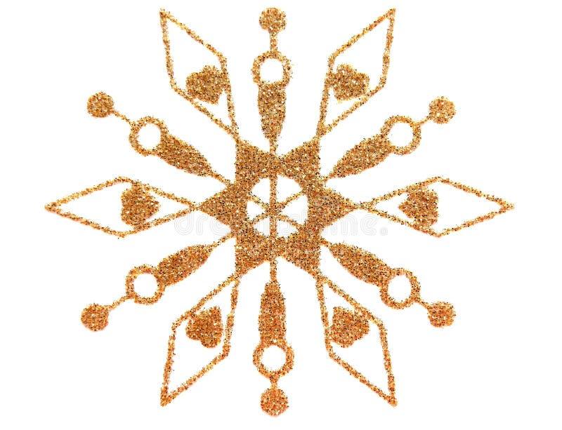 снежинка золота иллюстрация вектора