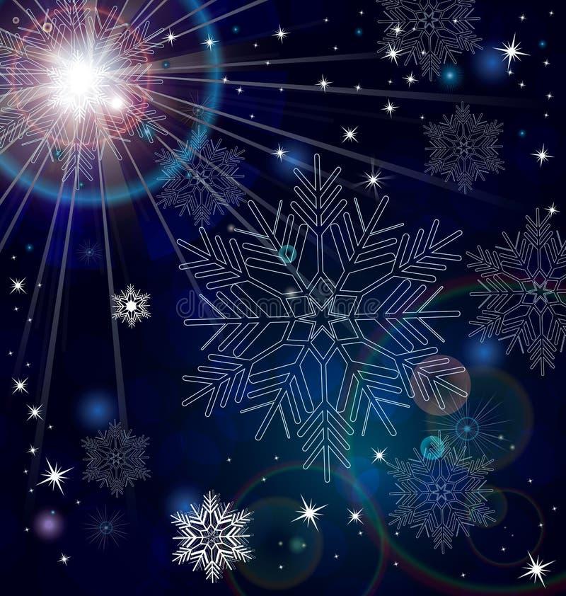 Снежинка играет главные роли абстрактный вектор бесплатная иллюстрация