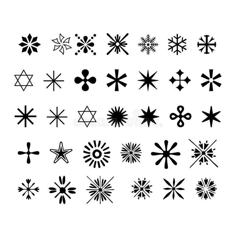 снежинка икон иллюстрация штока