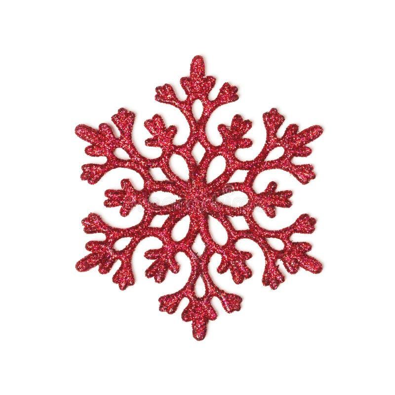 снежинка красного цвета яркия блеска стоковое изображение
