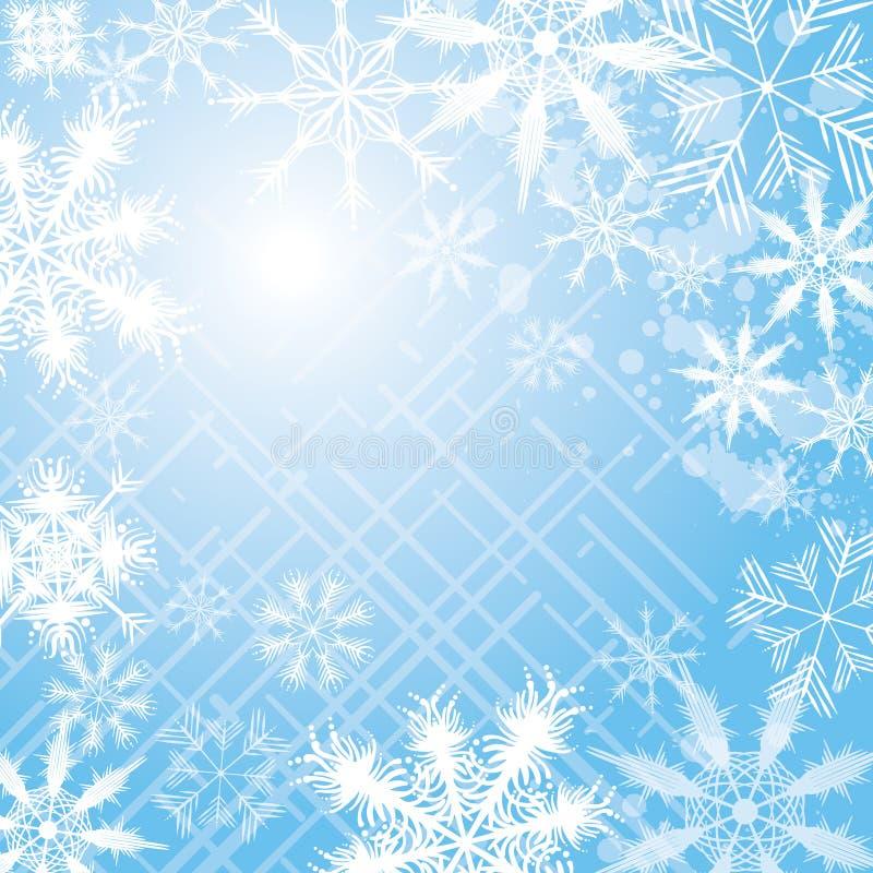 снежинка предпосылки иллюстрация штока