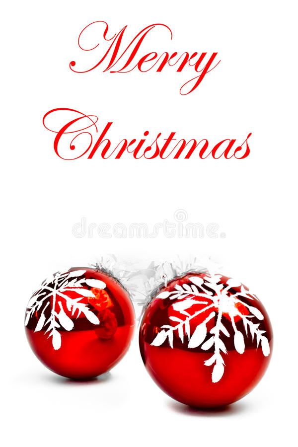 снежинка украшения рождества шариков стоковая фотография rf