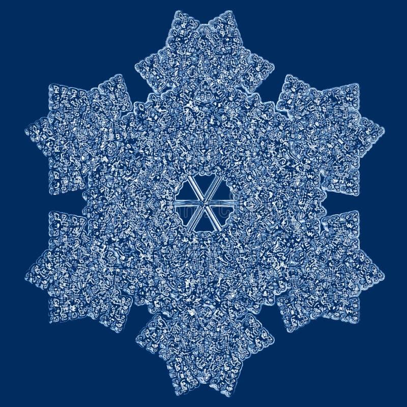 снежинка иллюстрация вектора