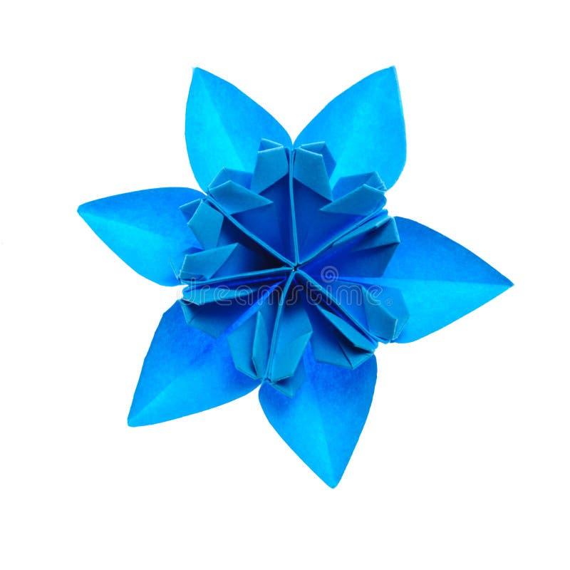 снежинка origami стоковое фото rf
