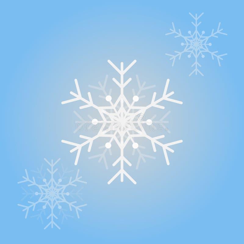 Снежинки вектора для дизайна рождества Изолированная предпосылка снежинок бесплатная иллюстрация